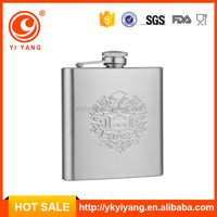6oz cheap drinking gourd hip flask with embossed logo