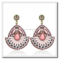 Fashion jewelry earrings made of clear resin alloy jewellery earring