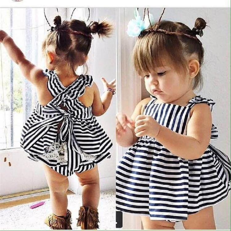 unique white and black strip children clothing sets hot sale baby 2 pieces clothes outfits