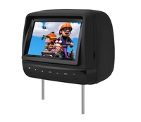 New 7'' headrest monitor/USB/SD/IR/FM transmitter and Game Function,Remote controller/Joystickers,with Analog TV & IR headphone