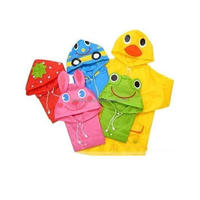 Hooded Cartoon Funny Baby Children Kids Rain Poncho/Raincoat/Outwear