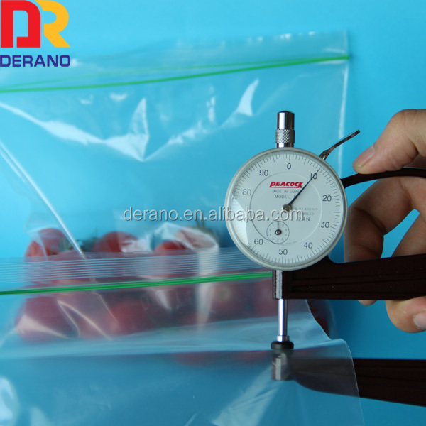 printable food ldpe plastic zip lock bag