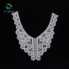 Alibaba Chinese factory pairs cotton Embroidered lace crochet collar