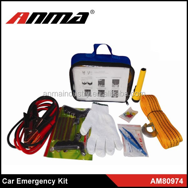 customized auto roadside safety kit for promotional/Customized emergency kit factory
