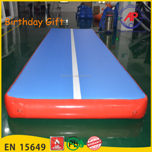 Guangzhou Airpark wholesale durable inflatable tumbling mattress for gym, inflatable air track for gym