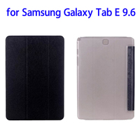 Factory Price 3 Folding Flip Leather Case for Samsung Galaxy Tab E 9.6