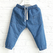 Attractive and durable cotton girls boys new style kids jean pants