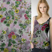 Online shopping for wholesale clothing polyester printed chiffon fabric