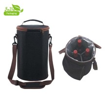 cheap waterproof reusable ice wine bag insulated lunch bag thermal 1.5l bottle wine cooler bag