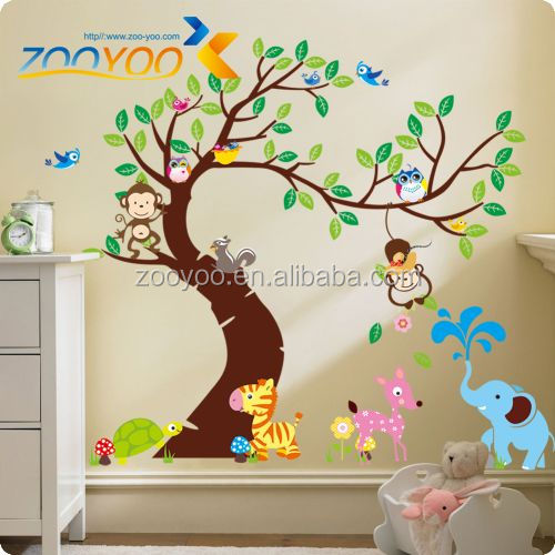 3D Removable pvc wall sticker/wall decal cartoon tree baby room decor
