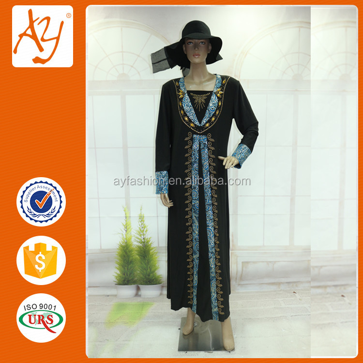 New Model abaya dress fashion women dress short sleeve dress