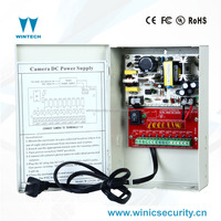 cctv security dc multi output 12volt regulated power supply with 4a 8ch output