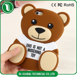 3D teddy bear silicon case for iphone 6s