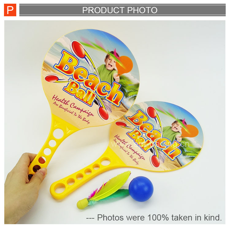 Hot sale promotion toy plastic beach racket set for kids