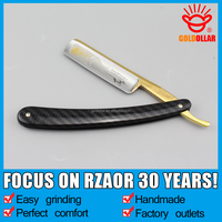 "NEW ARRIVAL!""GOLD DOLLAR 207"" razor carbon steel barber razor cut throat razor blade"