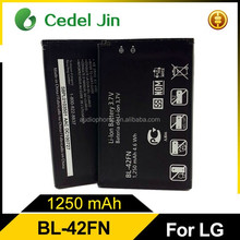 Wholesale lithium polymer battery BL-42FN for LG C550 P350 P355 C550 Optimus Me P350