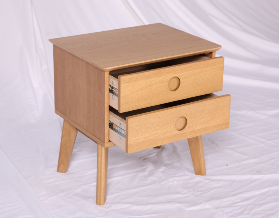 Modern design small wooden bedside table with drawers for European