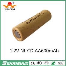Sunrise ni-cd aa 600mah rechargeable 1.2V battery batteries Paper sleeve for electric toys car
