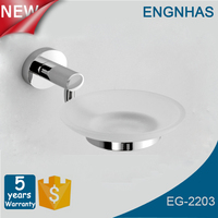 Chrome plated bathroom accessory brass soap dish