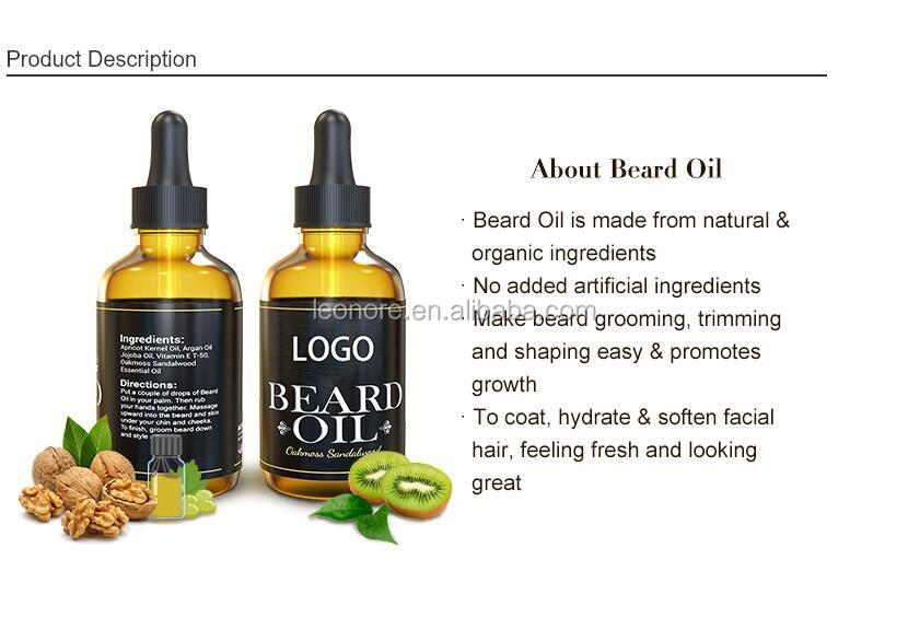 100% natural  beard grooming growth beard oil private label