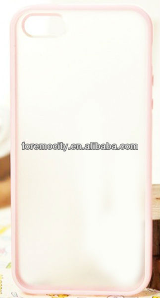 Candy color matte back for iPhone5 TPU+PC case