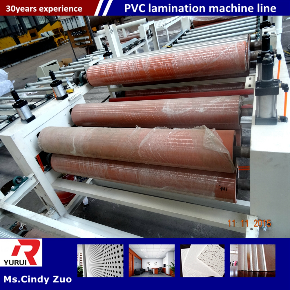 PVC ceiling tiles board production line/pvc laminated gypsum board equipment