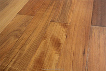 900 - 2500 * 150 * 18 mm AB Grade Outdoor Use Wax Oil Finished Real Bruma Teak Solid Wood Flooring With FSC CARB CE SGS Approved