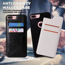 High quality nano suction card holder flip cover anti gravity case for iphone 6