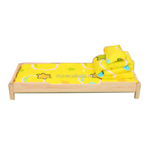 Baby cheap solid wood kids' bed kindergarten furniture midday rest small wooden beds child-care