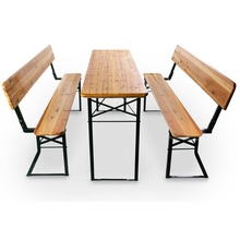 High Quality Outdoor <strong>Furniture</strong> Foldable Wooden Beer Table Set