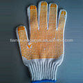 dotted industrial safety gloves for worker led work gloves