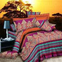 printed microfiber indian style comforter sets/3d printed bedding set/ indian style bedding sets