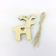 Factory direct supply 3d design laser cut reindeer wood craft
