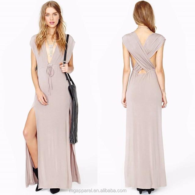 Plus size women clothing V-neck long maxi dress 2016 summer women maxi dress