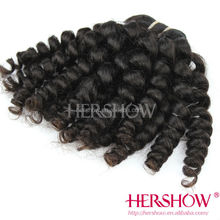 Funmi top quality unprocessed indian human hair extension Guangzhou factory wholesale