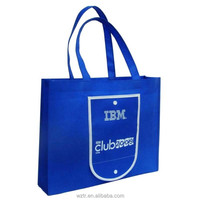 custom logo printing pp non woven shopping bag foldable with snap closure