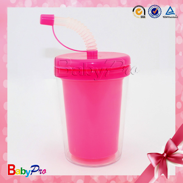 2014 Hot Sale Plastic Drinking Cup Lid Straw