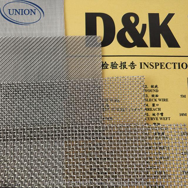 SUS 316 304 100 200 300 400 500mesh wire mesh distributors