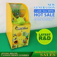 coin kids play game shooting game vending machine for amusement park and retail stores