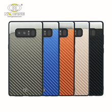 Fashion new design carbon fiber smart mobile phone cover for galaxy note 8 case