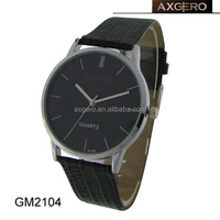 Simple design fashion wholesale stainless steel back chain black color wrist watch cheap