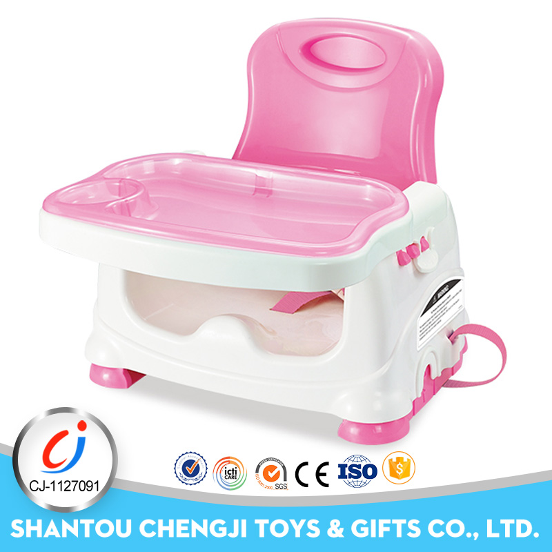 Good quality plastic feeding booster portable baby dining table and chair