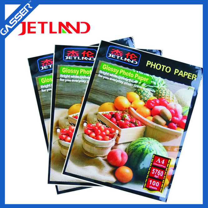High Glossy Advertising Photo Paper Mounted Adhesive A4 220GSM