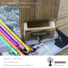 HONGDAO popular wooden pen holder,customized pen holder,solid wood dvd holder