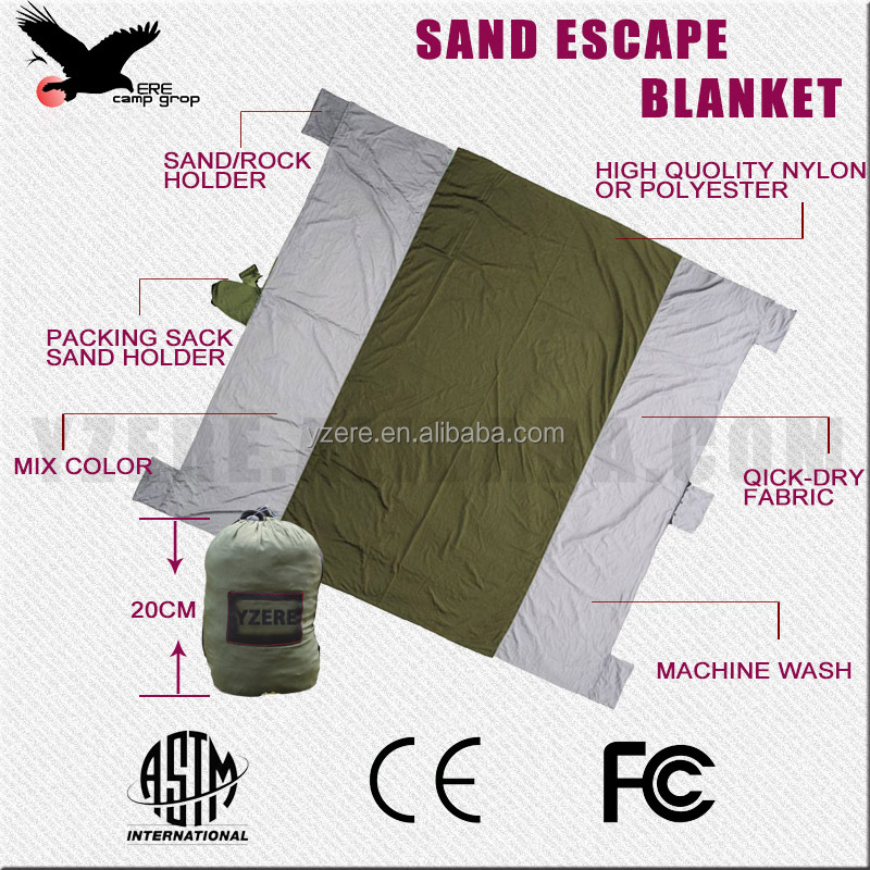Portable beach sandproof blanket,sand escape blanket mat,outfitters,wind-proof ourdoor mat