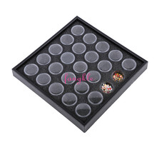 Plastic 25cells nail art gem storage case nail display box