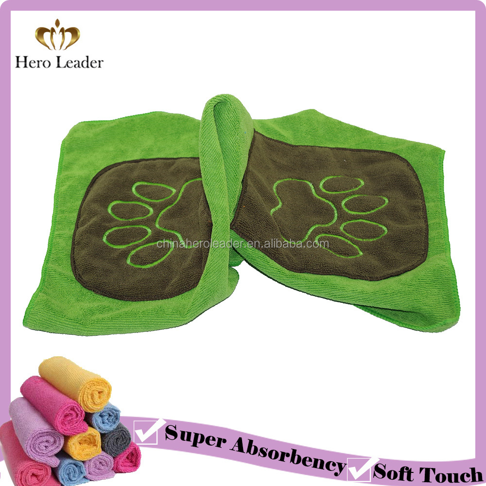 Super absorbent microfiber pet cleaning towel