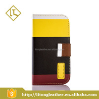 New design card holder wallet pu leather mobile phone case