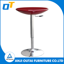 Cheap abs plastic round home kitchen high coffee bar table and chair used table for OT-002 bar design supplier