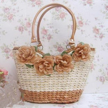 Stylish girls cheap price summer straw beach bag promotional bags 2013